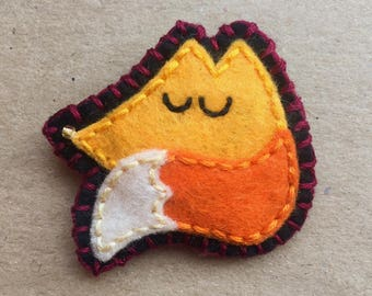 Felt Fox Fridge Magnet