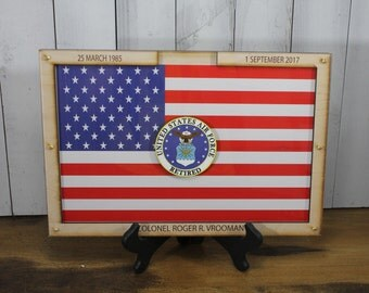 Personalized Guest Book/Flag/Navy/Coast Guard/Army/Air Force/Military/Retirement/Guest Book/Wood Shape/Planes