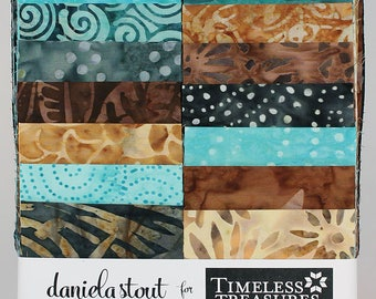 """True Love Batik Fabric 2.5"""" strips; 20 Pieces; Tonga Treats Strip Jr; Timeless Treasures; Precut Fabric; Tonga True Love; Daniela Stout"""