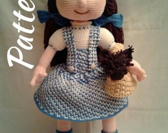 PATTERN - Dorothy & Toto - Crochet Amigurumi Pattern