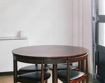 Mid Century Teak Hans Olsen Danish Compact Dining Set