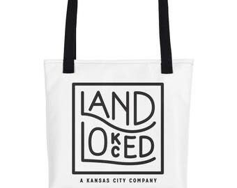 Kansas City Tote Bag - Landlocked Tote Bag - Kansas City Gifts