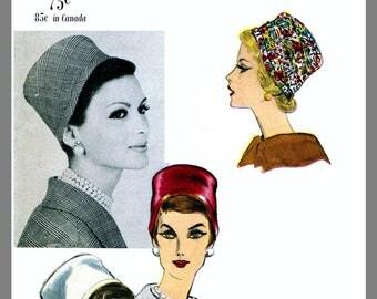 Vintage Vogue Designer Millinery Hat John Frederics Fabric sewing pattern # 9923 Copy