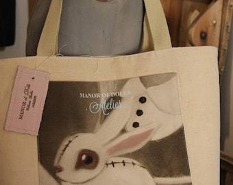 Bunny Pet canvas tote