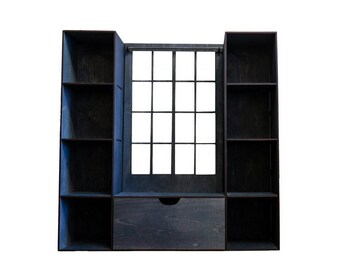Doll window seat & shelving #1. Scale 1/6 YoSD, 1/4 MSD, 1/3 SD, 70+ (bjd, barbie, monster high, momoko, blythe, fashion doll furniture)