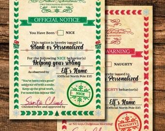 Elf Report Cards - Classic Design
