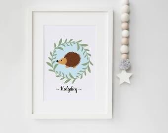 woodland nursery decor print, woodland nursery print, woodland nursery wall art, woodland nursery boys print, new baby print, nursery art
