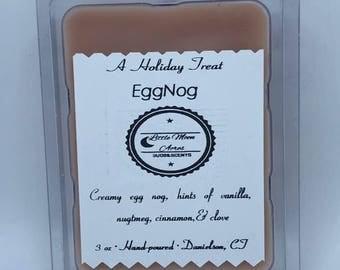 Paraffin/Soy wax melts-Egg Nog-  Clamshell  melt- wax melts- melts- Tarts- Candle tart - soy wax melt