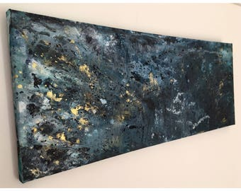 Stormy Seas - Modern Abstract Acrylic Canvas Painting