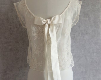 Lace top of calais for wedding dress, cape, accessory wedding, cache-shoulder, bolero