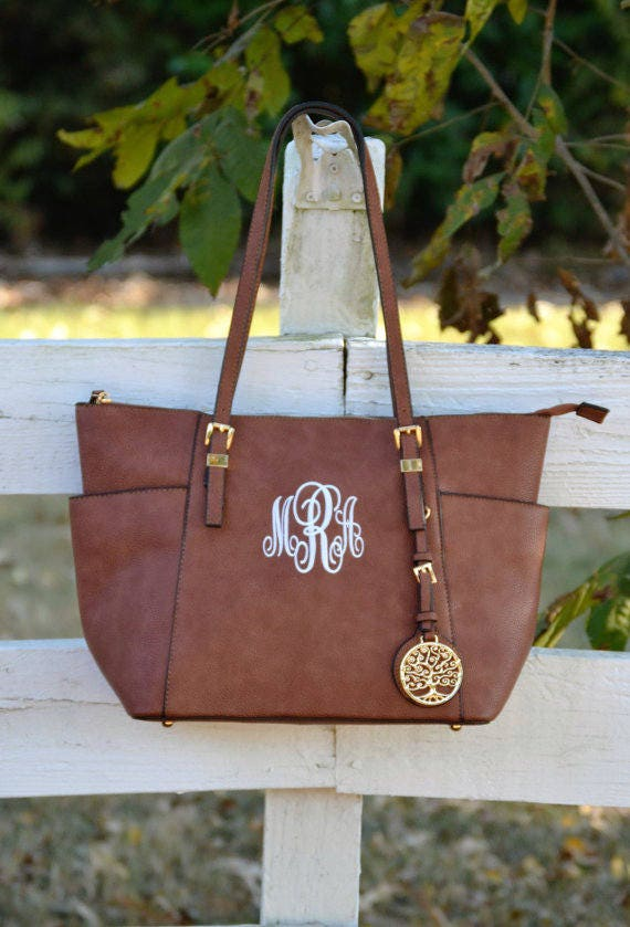 monogram purse tote brown monogram pocketbookvegan leather
