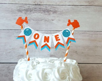 Goldfish Party Decorations, Goldfish First Birthday, Goldfish Cake Topper,  Fishing First Birthday, Fishing Party Decorations, Fishing Decor