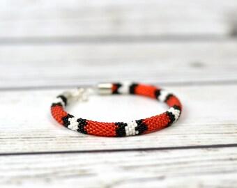 Beaded bracelet snake bracelet women gift ideas for her birthday gift|for|women boho bracelet statement jewelry contemporary jewelry modern
