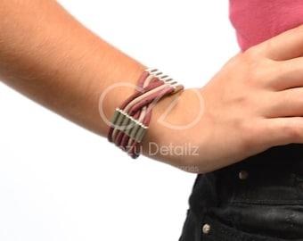 multistrand bracelet, cork bracelet, vegan gift , vegan bracelet, cork jewelry, eco-friendly bracelet, women bracelet, women gifts