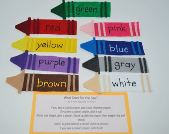 Crayon Colors Flannel Board Story