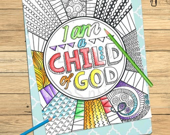 LDS Coloring Page I am a Child of God 2018 Primary Theme LDS printable program cover