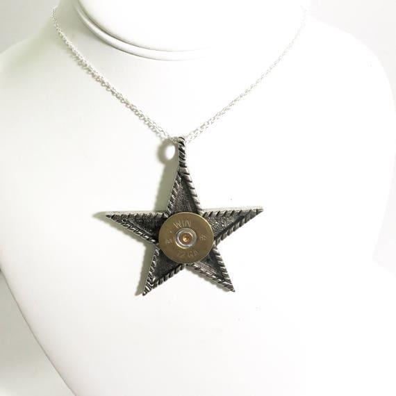 Shotgun Shell Star Necklace, 12 Gauge Shotgun Shell Jewelry, Stainless Steel, Shooting Star Necklace, Shotgun Shell Gifts, Shooting Jewelry