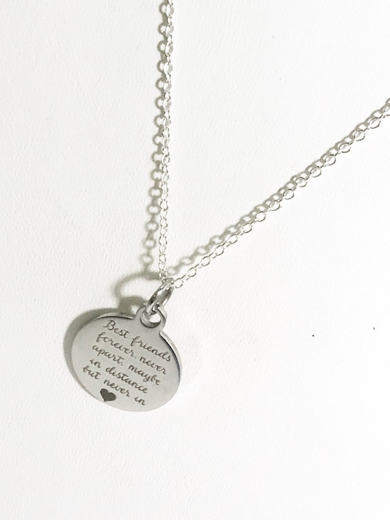Best Friend Jewelry, Best Friends Necklace, Best Friends Forever Never Apart Necklace, BFF Necklace, BFF Gift, BFF Moving Away Gift