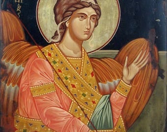 Saint Archangel Michael, Hand painted orthodox icon, Byzantine orthodox icon, Orthodox art, Angel Fine Art, Made to order