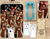 Bear Cookie Cutter Animal Cookie Cutter Designed by The Bearfoot Baker - *Guideline Sketch to Print Below*