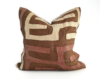 Authentic Vintage Kuba Cloth Pillow Cover
