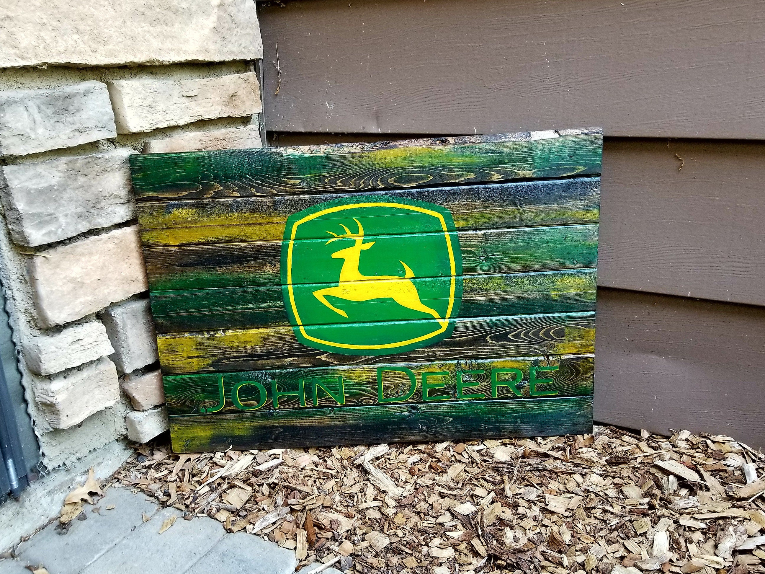 Wooden John Deere Sign John Deere Wall Decor Tractor Sign