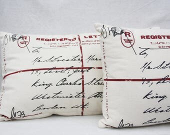 Book nook pillows Decorative throw pillow cover Library pillows Lumbar pillow 2 Pillows covers Letter pillows Book pillow Rustic home