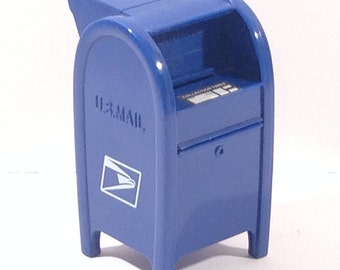 Miniature Mailbox Replica Stamp Dispenser and Coin Bank offered by Crafts by the Sea and Island Images Studio