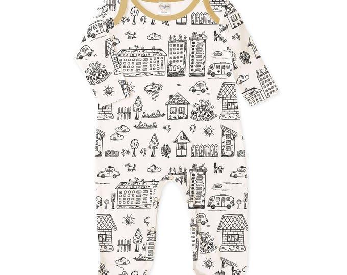 Newborn Boy Footie Romper, Baby Boy Coming Home Romper, Infant Boy Long Sleeve Romper, Infant Baby Boy Bodysuit