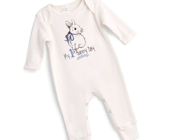 Baby Boy My 1st Easter Outfit, Baby Boy Easter Bunny Bodysuit, Infant First Easter Onesie, Newborn Easter Baby Outfit, Bunny Tesababe