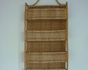 Vintage Bamboo Shelves, Hanging Shelves, Bamboo & Split Cane Shelves, Hanging / Free Standing Wall Shelves, Hanging Bamboo Shelves, Retro