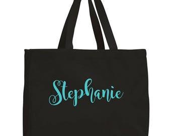 Personalized Tote Bag, Bridesmaid Tote bags, Bride Tote, Bridal Party Totes, Wedding Bag, Bridesmaid Gift, Tote Bags