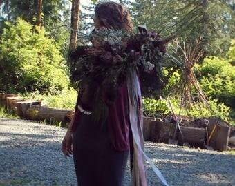 dried flower bouquet, mauve bouquet, marsala bouquet, pink bridal bouquet, rustic bouquet, woodland bouquet, feather bouquet, rose bouquet