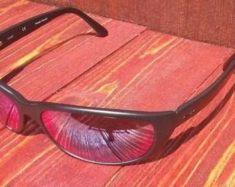 Vintage Revo Stealth Mirror Polarized Mad Wrap 1013/001 Sunglasses