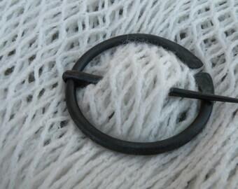 Hand forged brooch, Penannular brooch, Viking pin, celtic pin, cloak pin, shawl pin, scarf pin, celtic brooch, brooch, blacksmith made