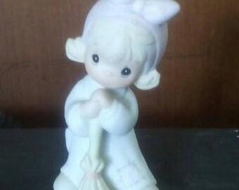 "Precious Moments, Figurine, ""Isn't He Precious"", Small Figurine, Collectible Figurine, Knick Knack, Girl Figurine, Gift For Her, Gift Idea"