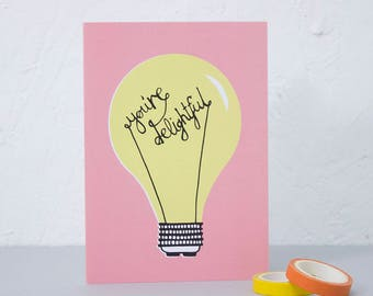 Fun Greetings Card, Birthday card, Notecard, Snail mail, Card for loved one, Card for Mum, Anniversary Card