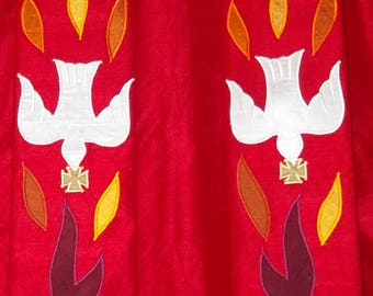 Red Dove Custom Made Clergy Stole