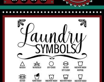 Laundry Room Symbols Sign | Cutting File | Printable | svg | eps | dxf | png | Home Decor | HTV | Clothes | Iron | Laundry Room | Symbols