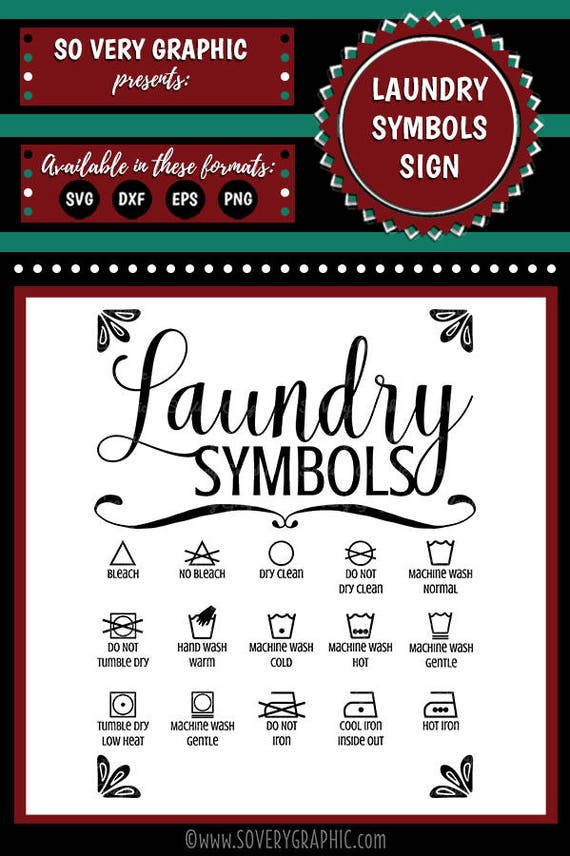 Laundry Room Symbols Sign