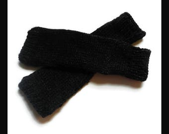 Outlander Inspired Claire Arm Warmers Black MADE TO ORDER V5761