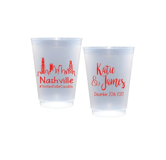 Nashville personalized plastic cups
