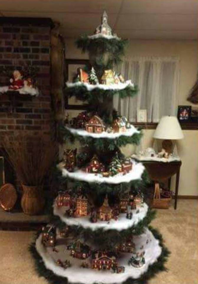 Christmas Village Display Tree Plans From Maziescrafts