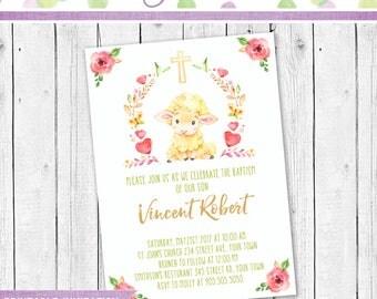 Baptism Invitation, Baptism Invite, Baptism for a boy, Baptism party Invitation, Baptism Printable invitation, Christening Invitation
