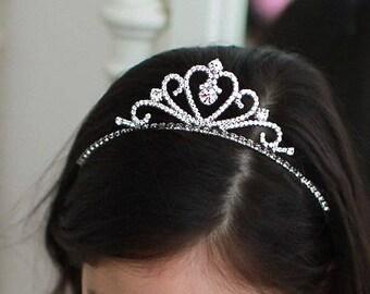Rhinestone Princess crown, Rhinestone crown headband, Tiara headband, crown headband, Birthday crown, Princess crown, Princess tiara, Girl