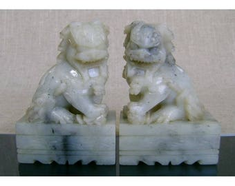 Chinese Soap Stone Foo Dogs