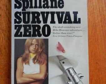 Retro 70's Survival Zero by Mickey Spillane Paperback Book 1971