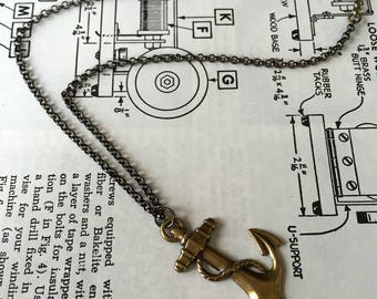 Long Mixed-chain Anchor Necklace
