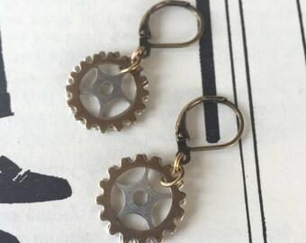 Simple Gear Earrings