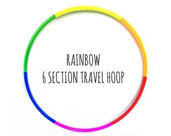Polypro Hoop(s) - Rainbow 6 Section Travel Hoop